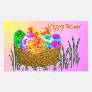 Pascua feliz #2 pegatina rectangular