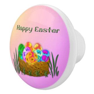 Pascua feliz #2 pomo de cerámica