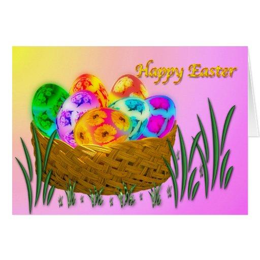 Pascua feliz #2 tarjeta de felicitación