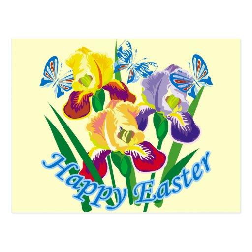 Pascua feliz 6 postal