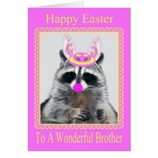 Pascua feliz a la tarjeta de felicitación de Broth