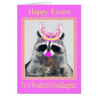 Pascua feliz a la tarjeta de felicitación de la ni
