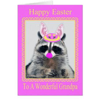 Pascua feliz a la tarjeta de felicitación del abue