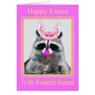 Pascua feliz a la tarjeta de felicitación del mari