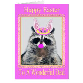 Pascua feliz a la tarjeta de felicitación del papá