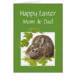 Pascua feliz alguna mamá especial del conejito, pa tarjeta