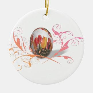 Pascua feliz artística ornamentos de navidad