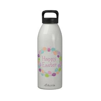 Pascua feliz botellas de agua reutilizables