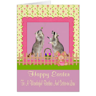 Pascua feliz Brother/tarjeta de felicitación de la
