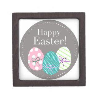 Pascua feliz caja de recuerdo de calidad