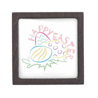 Pascua feliz cajas de recuerdo de calidad