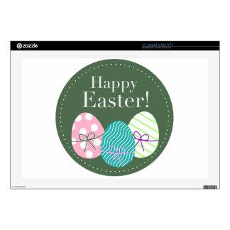 Pascua feliz calcomanía para portátil