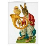 Pascua feliz con la trompa tarjeta