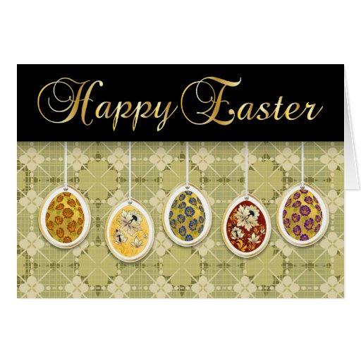 Pascua feliz con los huevos coloreados - 1