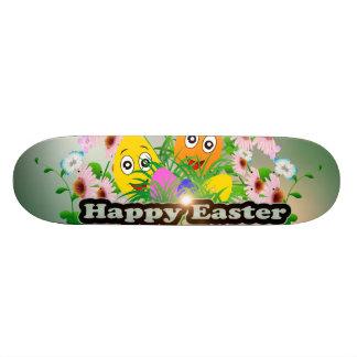 Pascua feliz con los huevos de Pascua divertidos Tabla De Patinar