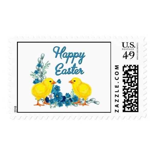 Pascua feliz con los polluelos del bebé sello
