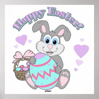 ¡Pascua feliz! Conejito de pascua Poster