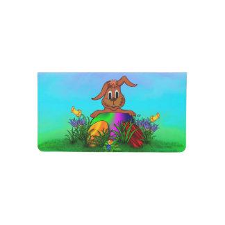 ¡Pascua feliz! Conejo de Pascua Funda Para Chequera