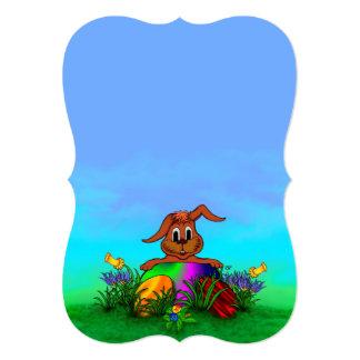 """¡Pascua feliz! Conejo de Pascua Invitación 5"""" X 7"""""""