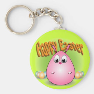 Pascua feliz de giggleBunny Llavero Redondo Tipo Pin