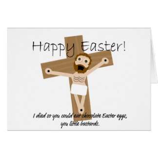 Pascua feliz de Jesús enojado Tarjeta De Felicitación