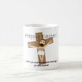 Pascua feliz de Jesús enojado Taza De Café