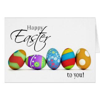 Pascua feliz desea la tarjeta
