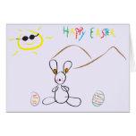Pascua feliz - dibujo de los niños tarjeton
