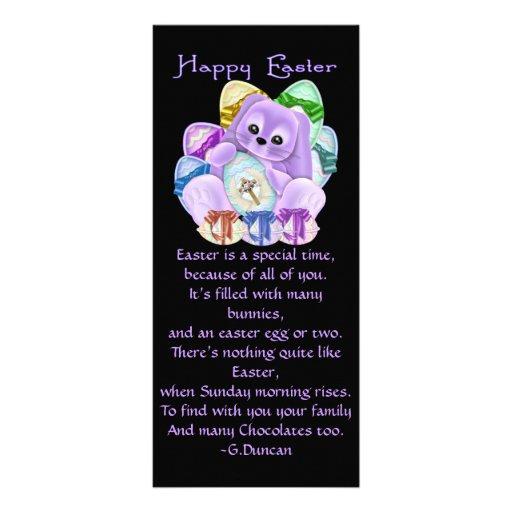 Pascua feliz diseño de tarjeta publicitaria