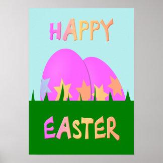 Pascua feliz embroma el poster