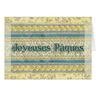 Pascua feliz en francés Joyeuses Pâques Tarjeta De Felicitación