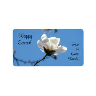Pascua feliz etiqueta los regalos las chucherías h etiquetas de dirección