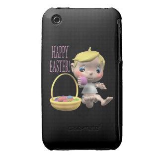 Pascua feliz iPhone 3 Case-Mate carcasas