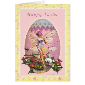 Pascua feliz - hada de Pascua Tarjeton