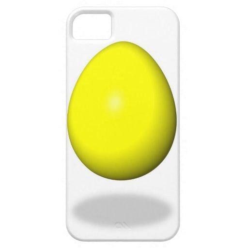 Pascua feliz - huevo amarillo iPhone 5 cárcasa