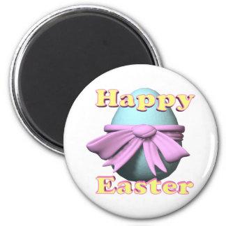 Pascua feliz imán de frigorifico