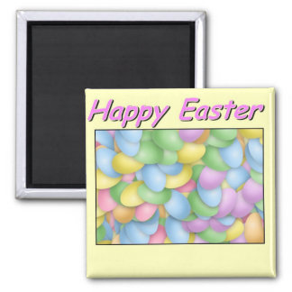 Pascua feliz imán cuadrado