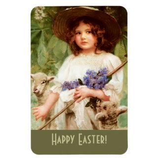 Pascua feliz. Imán del regalo de Pascua de la bell