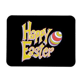 Pascua feliz imán rectangular