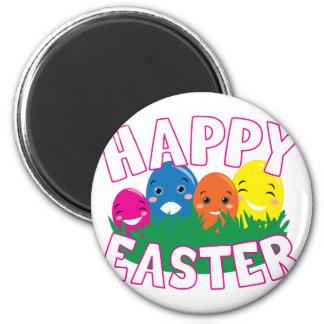 Pascua feliz imán redondo 5 cm