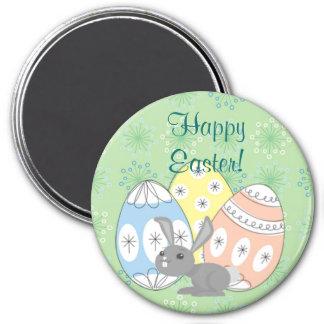 Pascua feliz imán redondo 7 cm
