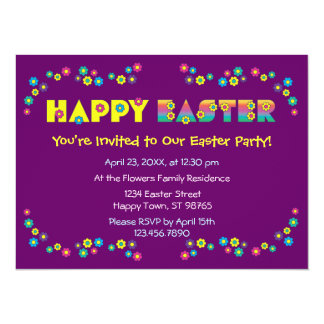 Pascua feliz invitación 13,9 x 19,0 cm