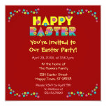 Pascua feliz invitación 13,3 cm x 13,3cm