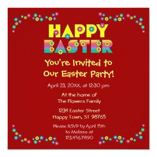 """Pascua feliz invitación 5.25"""" x 5.25"""""""