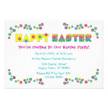 Pascua feliz invitacion personalizada