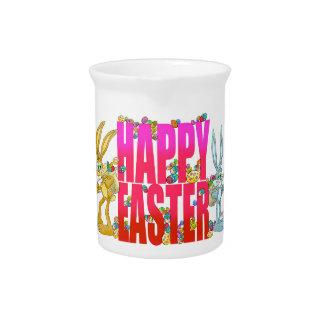 Pascua feliz jarras para bebida