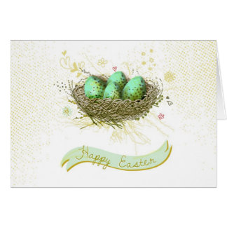 ¡Pascua feliz! - Jerarquía de los pájaros con los  Felicitación