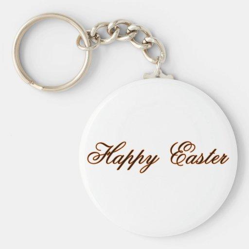 Pascua feliz l naranja los regalos de Zazzle del M Llavero Redondo Tipo Pin