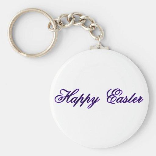 Pascua feliz l púrpura los regalos de Zazzle del M Llaveros