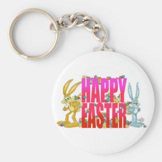 Pascua feliz llavero redondo tipo pin